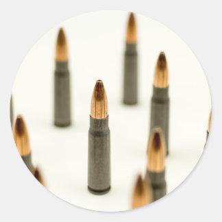 Sticker Rond Cartouche 7.62x39 d'AK47 de balle de munitions