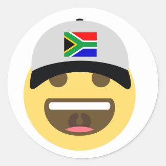 Sticker Rond Casquette de baseball de l'Afrique du Sud Emoji