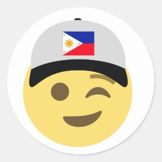 Sticker Rond Casquette de baseball de Philippines Emoji