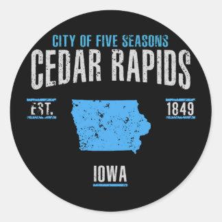 Sticker Rond Cedar Rapids