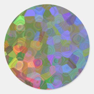 Sticker Rond Célébration de couleur