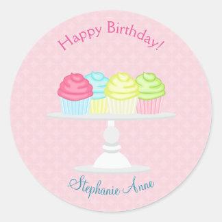 Sticker Rond Célébration douce de petit gâteau de ballerine