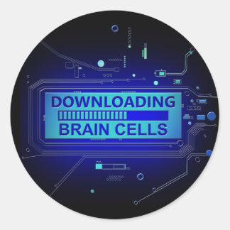 Sticker Rond Cellules de cerveau de téléchargement