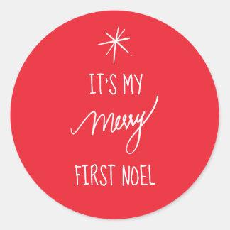 Sticker Rond C'est mon premier Noël de fête de Noel | ęr