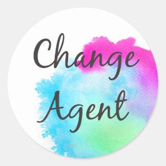 Sticker Rond Changez l'agent