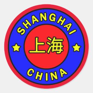 Sticker Rond Changhaï Chine