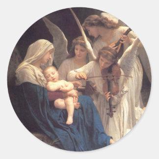 Sticker Rond Chanson des anges - William-Adolphe Bouguereau