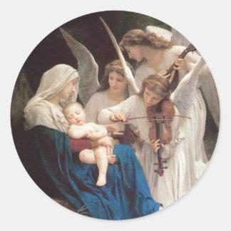Sticker Rond Chanson des anges, William-Adolphe Bouguereau