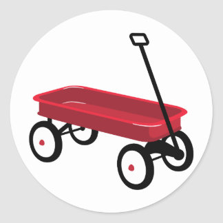 Sticker Rond Chariot rouge