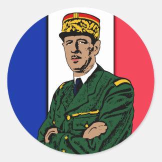 Sticker Rond Charles de Gaulle