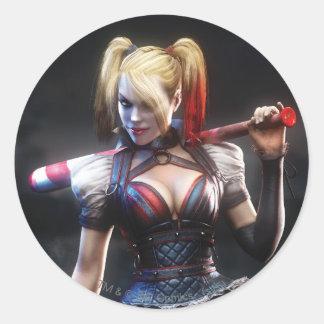 Sticker Rond Chevalier de Batman Arkham | Harley Quinn avec la