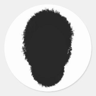 Sticker Rond Cheveux de hippie
