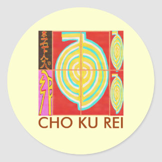 Sticker Rond CHO KU REI - Reiki