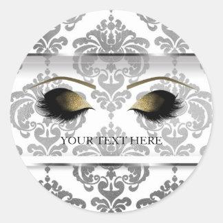 Sticker Rond Cils modernes fascinants vintages de maquillage de