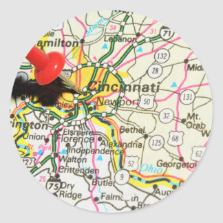 Sticker Rond Cincinnati