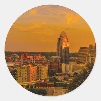 Sticker Rond Cincinnati d'or