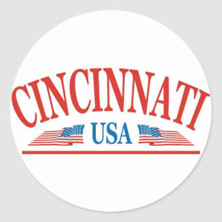 Sticker Rond Cincinnati Ohio Etats-Unis