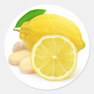 Sticker Rond Citron et gingembre