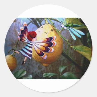 Sticker Rond Citronnier magique