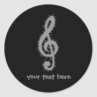 Sticker Rond Clef triple