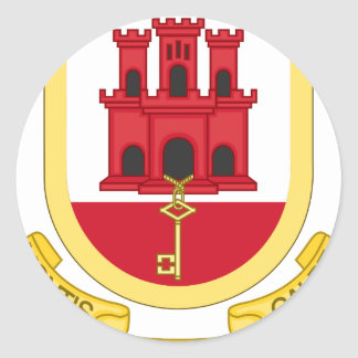 Sticker Rond Coat_of_Arms_of_Gibraltar
