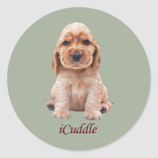 Sticker Rond Cocker adorable d'iCuddle