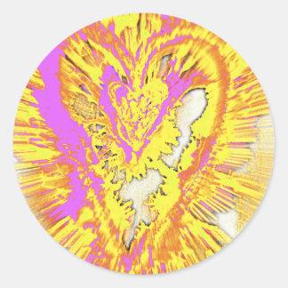 Sticker Rond coeur de soin #2 de ©AmberFengShuiArt