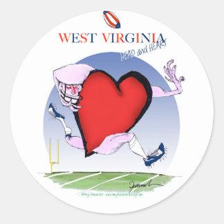 Sticker Rond coeur principal de W la Virginie, fernandes