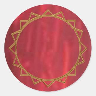 Sticker Rond Collection argentée de fard à joues du filet n de