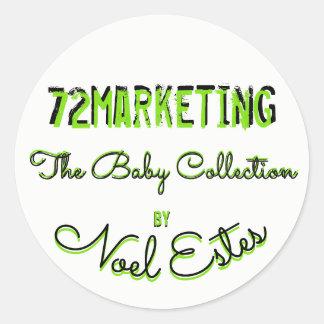 Sticker Rond collection de commercialisation du bébé 72