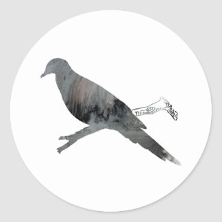 Sticker Rond Colombe
