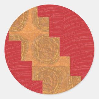 Sticker Rond Colorez la joie, BASE DE SOIE ROUGE UNIQUE de