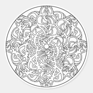 Sticker Rond Colorez votre propre abrégé sur conception de