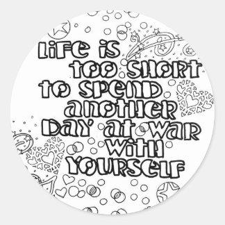 Sticker Rond Colorez votre propre citation de la vie