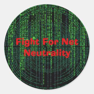 Sticker Rond Combat pour la neutralité nette