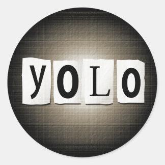 Sticker Rond Concept de YOLO