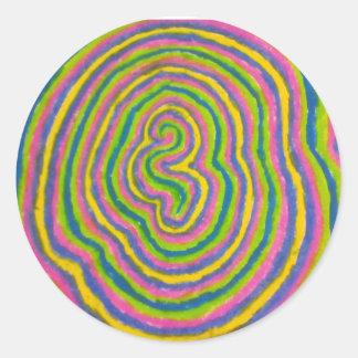 Sticker Rond conception aléatoire