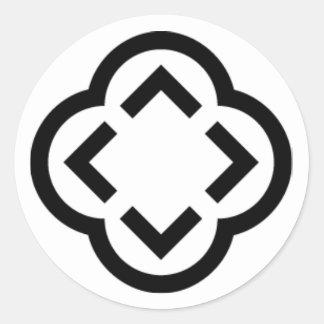 Sticker Rond Conception de blanc et de noir