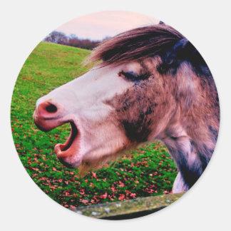 Sticker Rond Conception de cheval d'IMG_0897.JPG de Jane