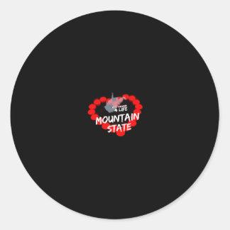 Sticker Rond Conception de coeur de bougie pour l'état de la