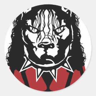 Sticker Rond conception de Jackson de mine mignonne