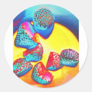 Sticker Rond Conception géniale de fruit de Jane Howarth