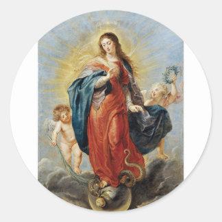 Sticker Rond Conception impeccable - Peter Paul Rubens