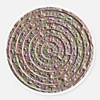 Sticker Rond Conceptions intégrées de guérison de Chakra