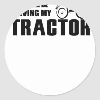 Sticker Rond Conduisez mon tracteur