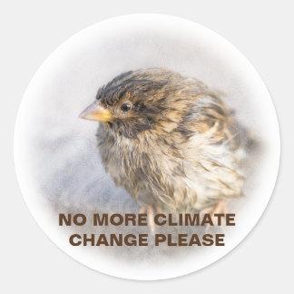 Sticker Rond Conscience de changement climatique