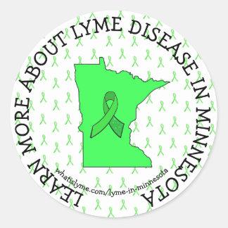 Sticker Rond Conscience de la maladie de Lyme dans des