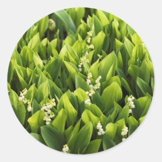 Sticker Rond Correction de fleur du muguet