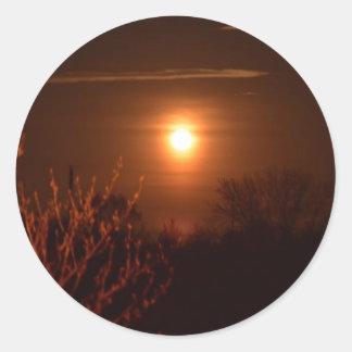 Sticker Rond Coucher du soleil de la Virginie Occidentale