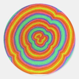 Sticker Rond couleurs